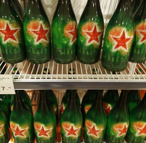 Пиво в аэропорту Амстердама