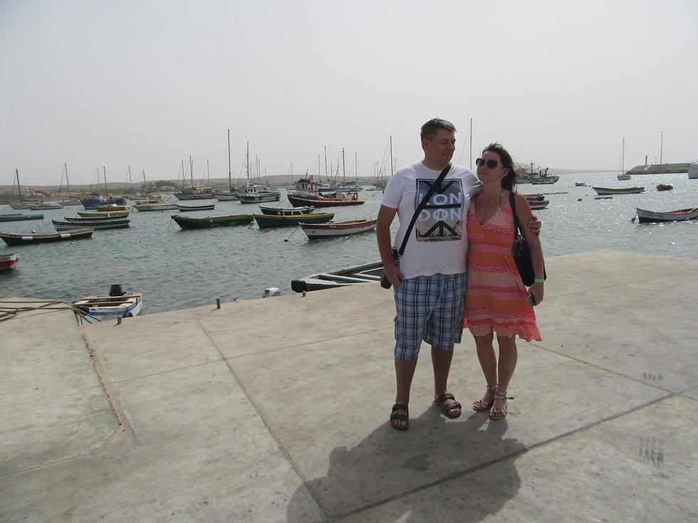Селфи на пирсе порта Палмейры
