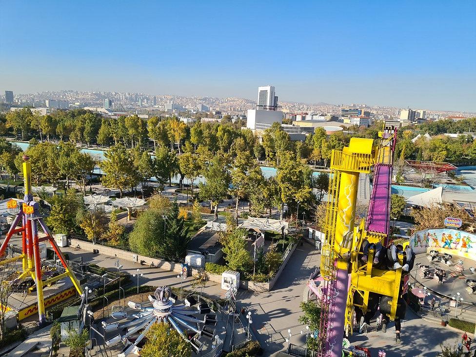 Вид на Анкару с колеса обозрения