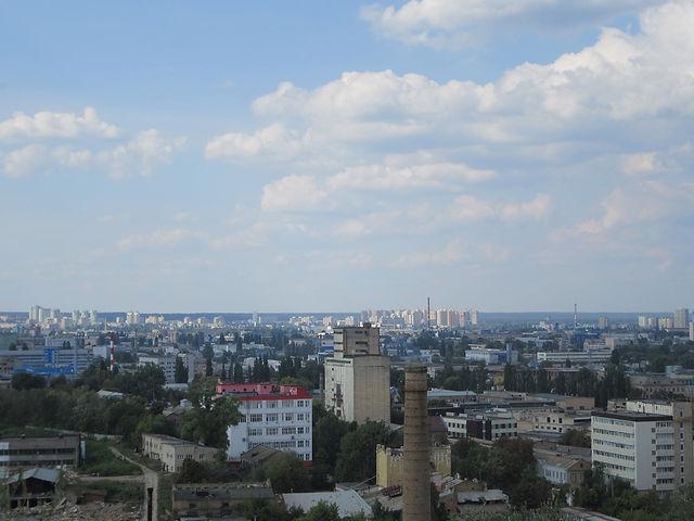 Смотрим на Киев с горы