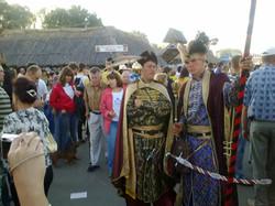 Гетьманы встречают гостей ярмарки