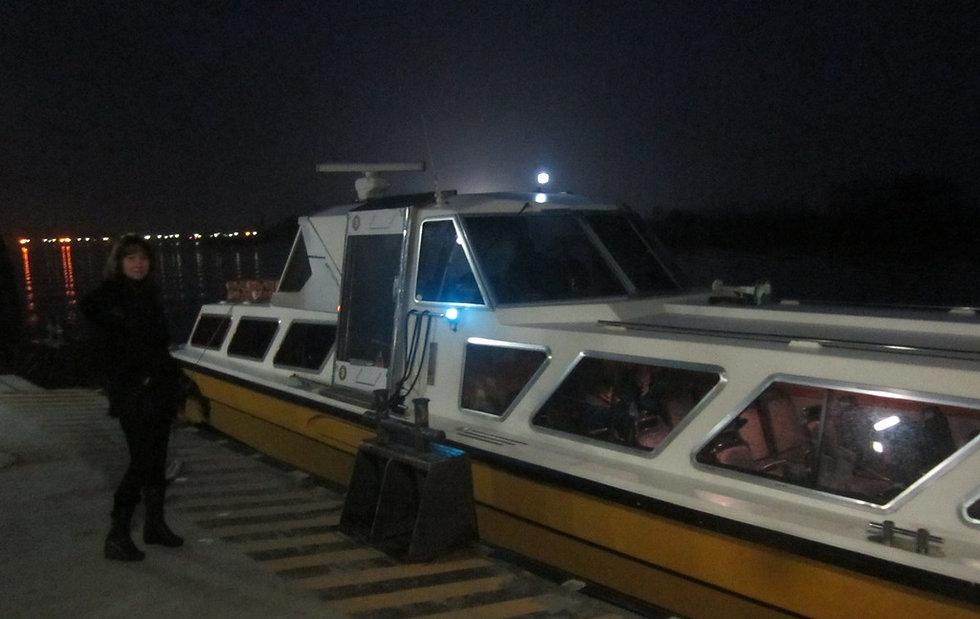 Катер на пристани острова Торчелло