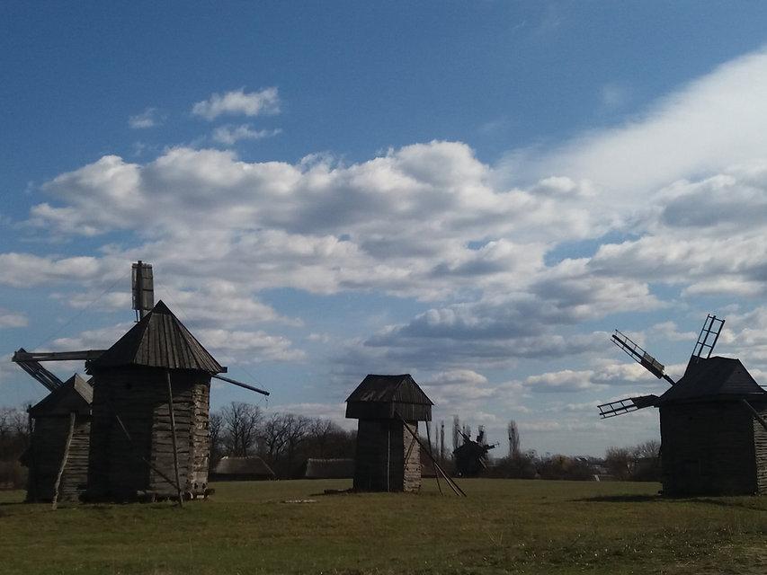Мельницы в Пирогово, Украина