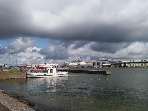 Хранилище сжиженного газа в порту Клайпеды