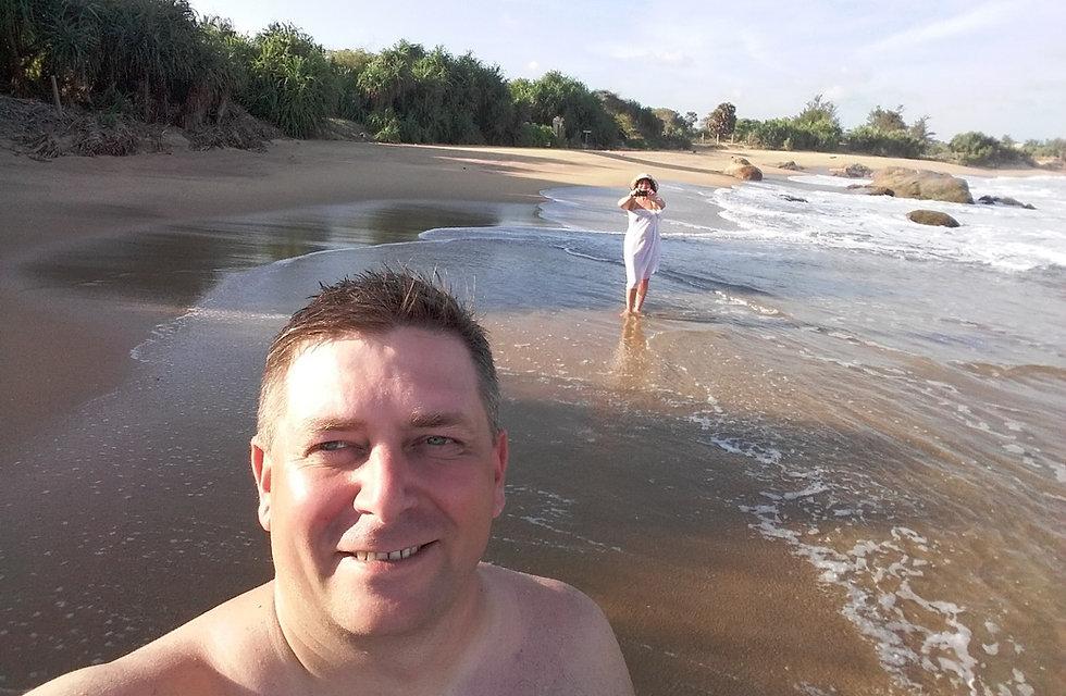 Фотографируемся на пляже Киринды