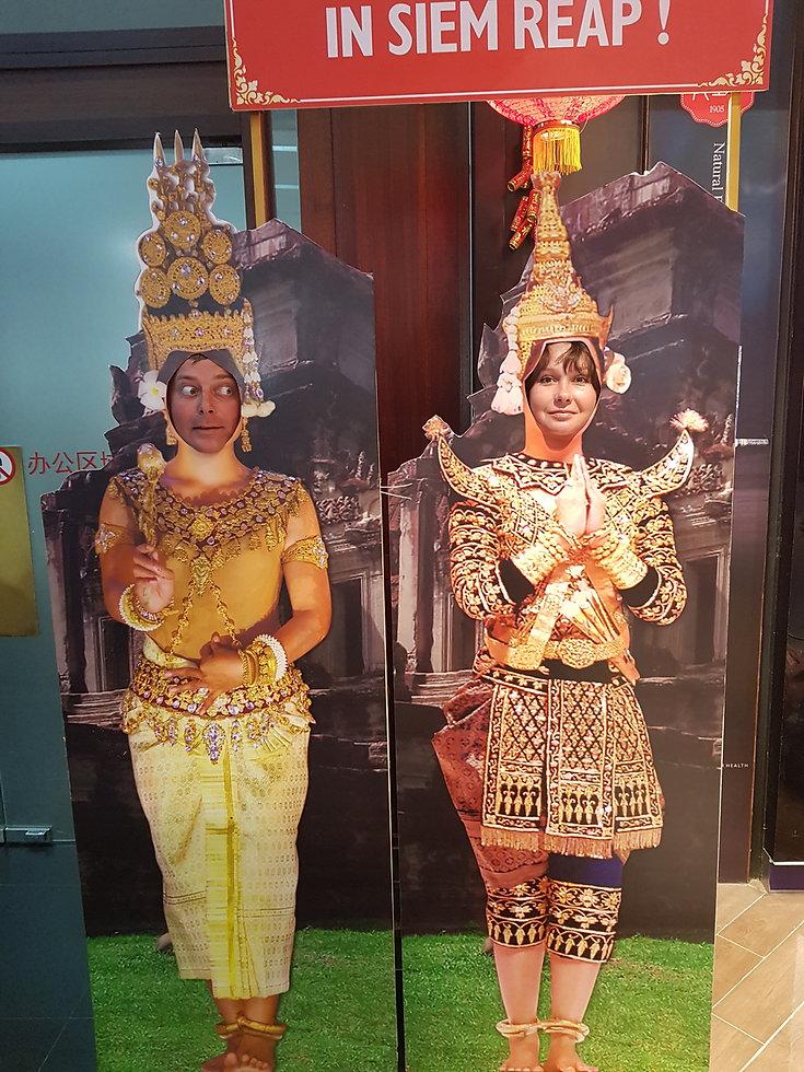 Фотография в национальной одежде Камбоджи