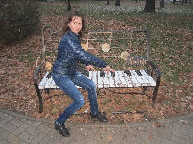 Скамейка с клавишами