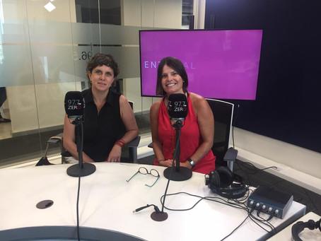 Nawi, en Radio Zero 97.7 en el programa Labcafé con Catalina Allende.