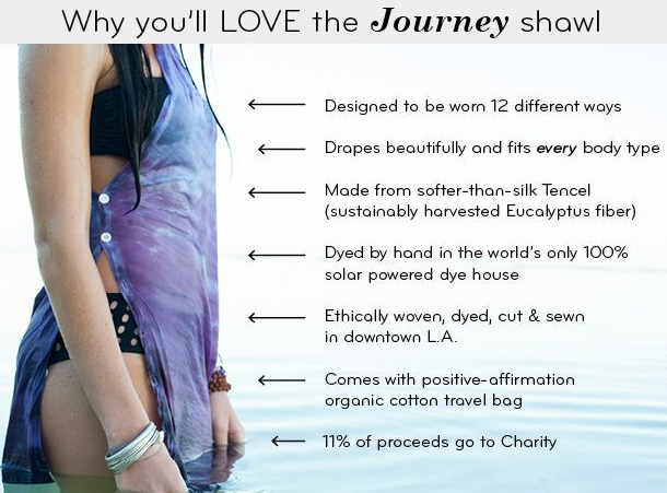 Journey Shawl facts