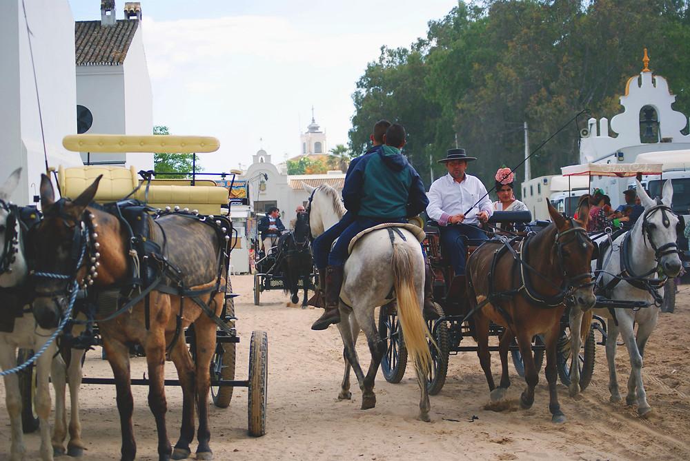 Streets during El Rocío