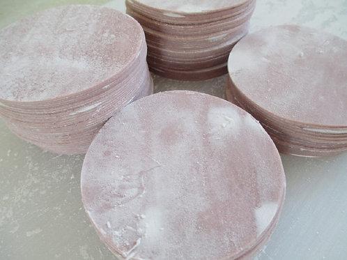 紫色の餃子の皮 95mm 500枚(25枚x20)