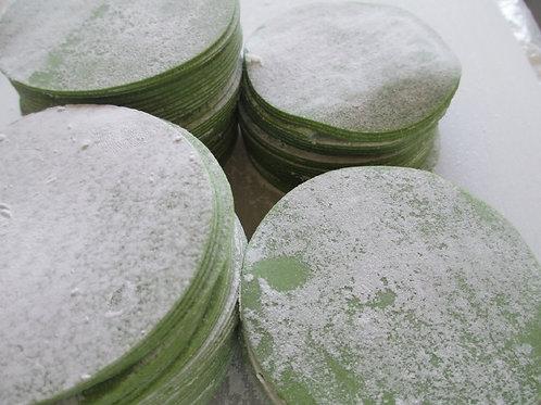 グリーン餃子の皮(95mm)500枚 食卓を緑色に