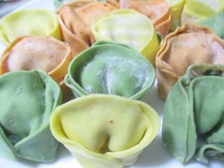 かわいい花型 餃子の皮もやしレシピ(スープもうまか)