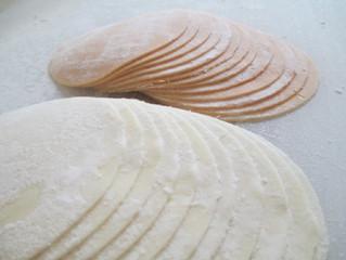 弾力あるね 米粉の皮はモチモチして美味し(喜多方産米粉使用)