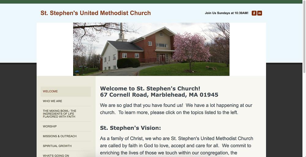 Original Website for St. Stephen's UMC