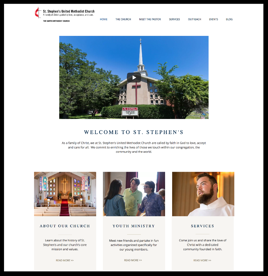 St. Stephen's New Website