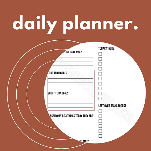 The Daily Planner - Digital / Printable