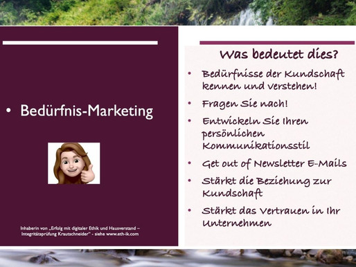 Bedürfnis-Marketing: Kennen Sie die Bedürfnisse Ihrer Kundschaft?