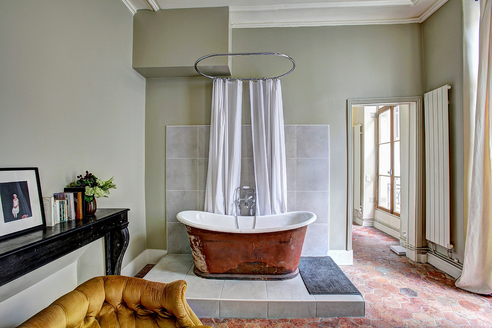 Bathroom design, interior design, country design. bathrooms