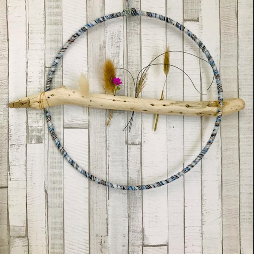 Décoration : suspension fleurs séchées