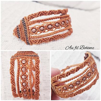 Bracelet manchette camel