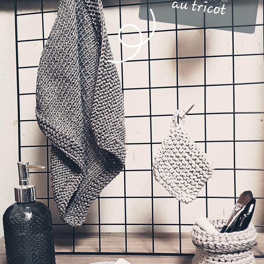 Atelier tricot : l'essuie main