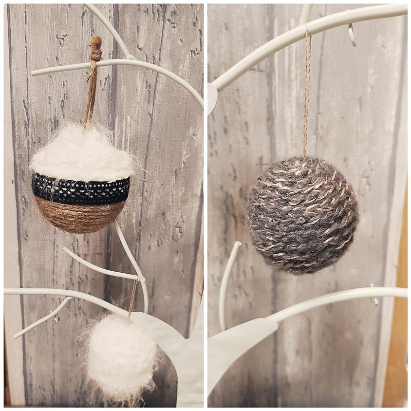 Atelier déco : les boules de Noël