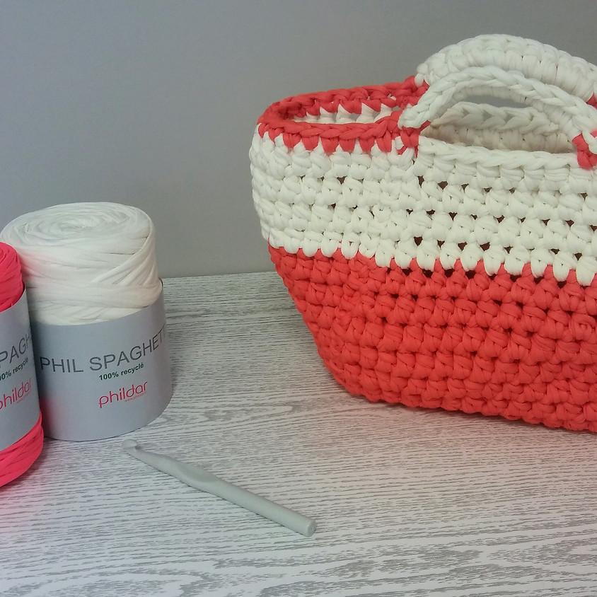 Atelier crochet - Réalisation d'un sac panier
