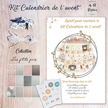 Kit calendrier de l'Avent- les p'tits pois