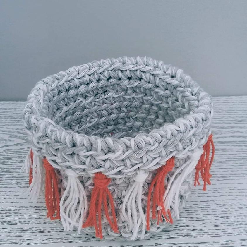 Atelier crochet : le panier bohème