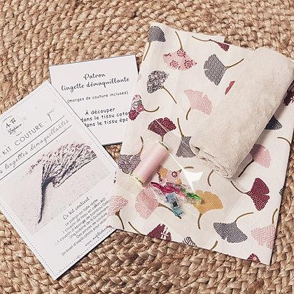Kit couture - les lingettes demaquillants - fleurs  japonaises