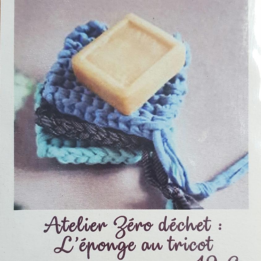 Atelier tricot : l'éponge 0 déchet