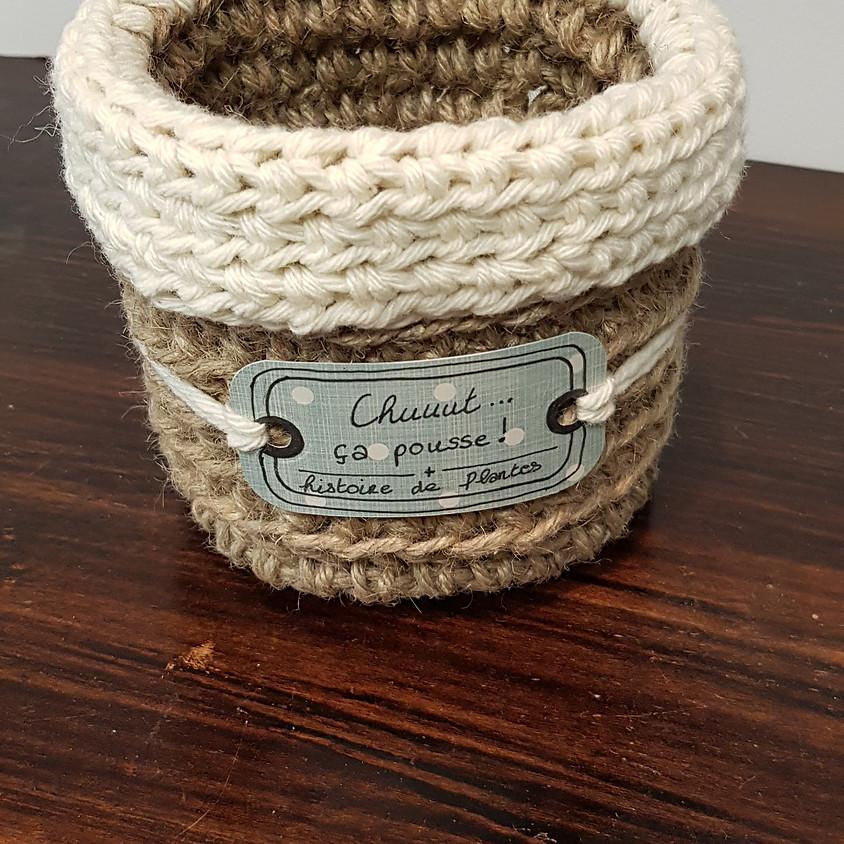 Atelier Crochet: le cache pot