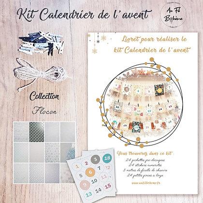 Kit calendrier de l'Avent - Flocon