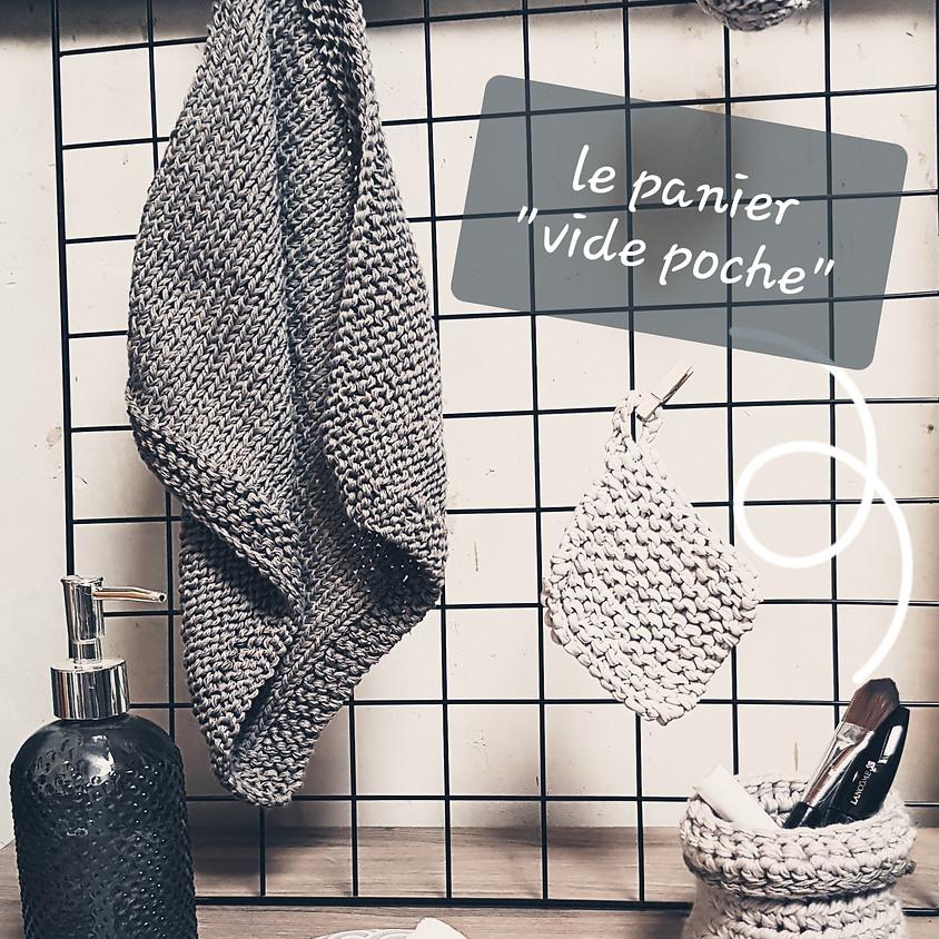 Atelier crochet : le panier vide poche