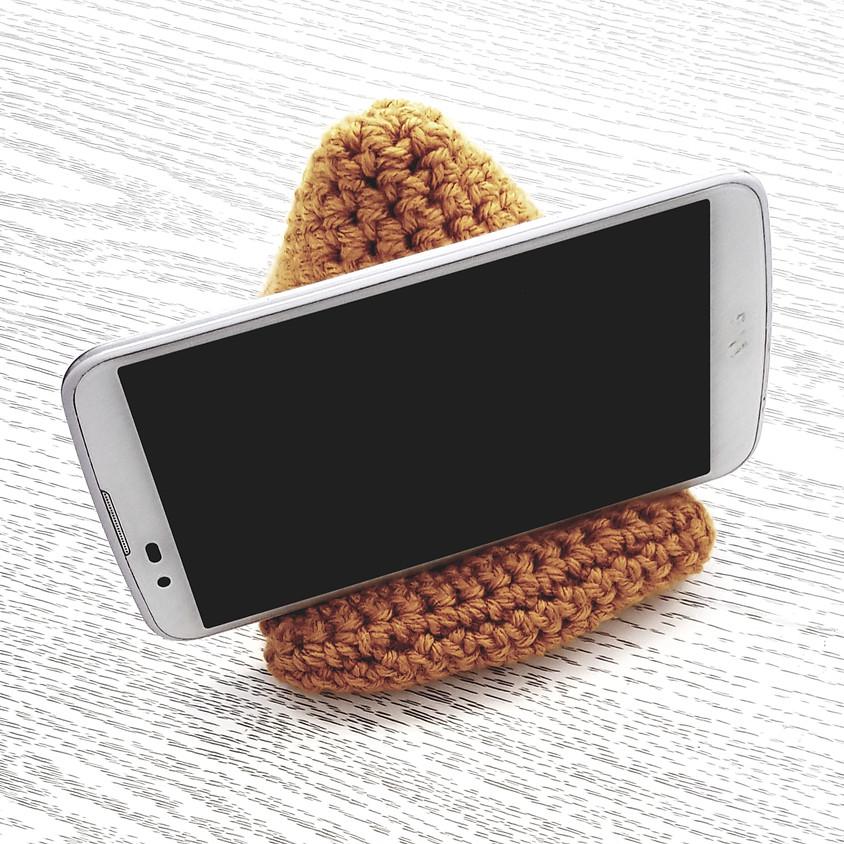 Coussin support téléphone