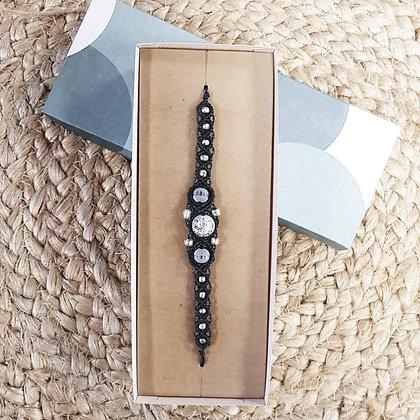 Coffret cadeaux bracelet - gris anthracite