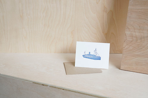 Greeting Card: Ship