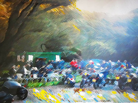 Off to Prague to sell some Bikers Hut prints, & other tea hut prints. Prague is a really nice city.