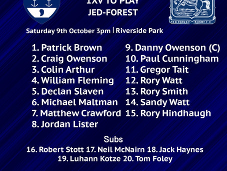 Squads to play Jed-Forest and Haddington