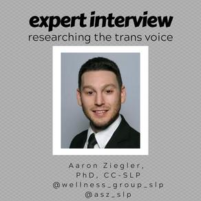 Interview with Speech Language Pathologist Aaron Ziegler