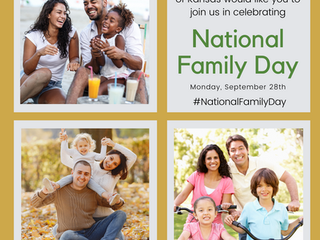 Did you know Monday, September 28th is National Family Day?