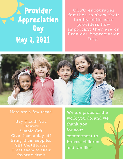 May 7th, 2021 is Provider Apprecation Da