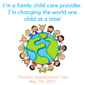 I'm a family child care provider I'm cha