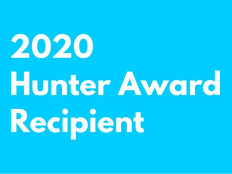 2020 Hunter Award Winner