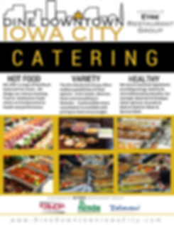 The Etre Restauarant Group offers catering for any event anywhere - Dine Downtown Iowa City