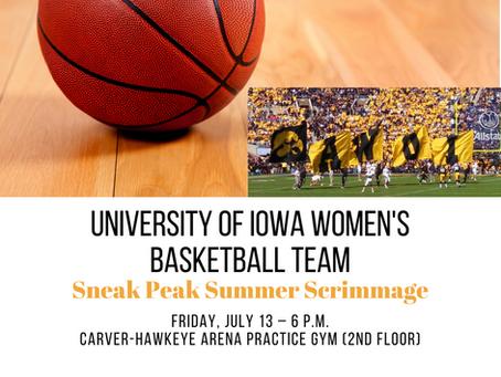 University of Iowa women's basketball team Sneak Peak Summer Scrimmage