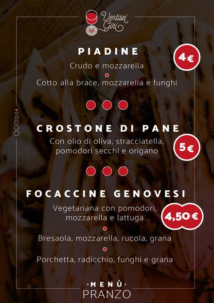 Piadine - Crostone di Pane - Focaccine Genovesi