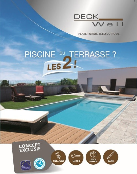 DeckWell Terrasse mobile pour piscine.