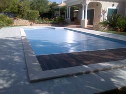 Volet pour piscine à lames solaires